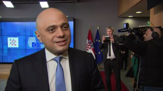 Chancellor Sajid Javid in Brussels