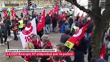 Coupure d'électricité au stade Armandie  la CGT Energie 47 entendue par la police