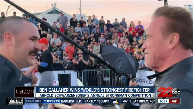 Ben Gallaher wins Arnold Schwarzenegger's 'World's Strongest Firefighter'