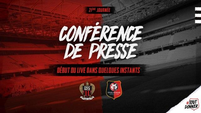 J21. #OGCNSRFC. Conférence de presse d'avant-match