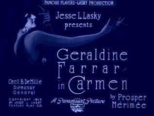 Cecil B. DeMille:  Carmen (1915)