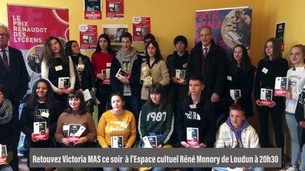 Remise du Prix Renaudot des Lycéens 2019 à Victoria Mas
