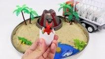 Dino Mecard Dinosaur Toys DIY Volcano Eruptiont