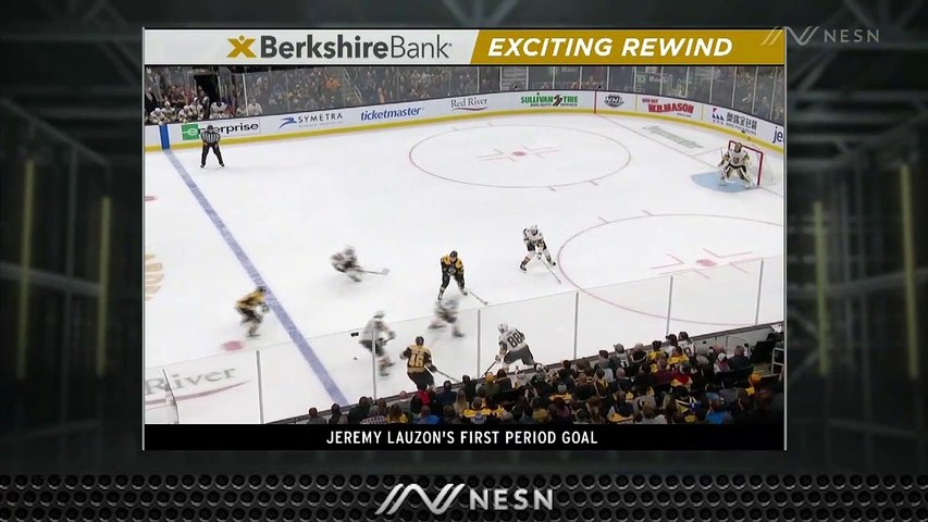 Bruins' Recent Solid First Period Play Continues As Jeremy Lauzon Scores