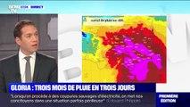 Tempête Gloria: près de 3 mois de pluie en 3 jours par endroits dans les Pyrénées-Orientales