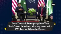 US President Donald Trump again offers 'help' over Kashmir during meet with PM Imran Khan in Davos