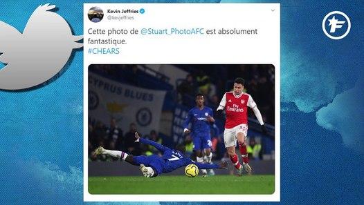 La glissade de N'Golo Kanté contre Arsenal a fait réagir sur Twitter