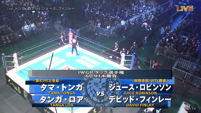 60fps / Tonga & Loa (C/V8) VS Juice & Finlay '20.1.4 [IWGP Tag Championship] [WORLD PRO-WRESTLING LIVE 2020 ~ WRESTLE KINGDOM 14 in TOKYO DOME]