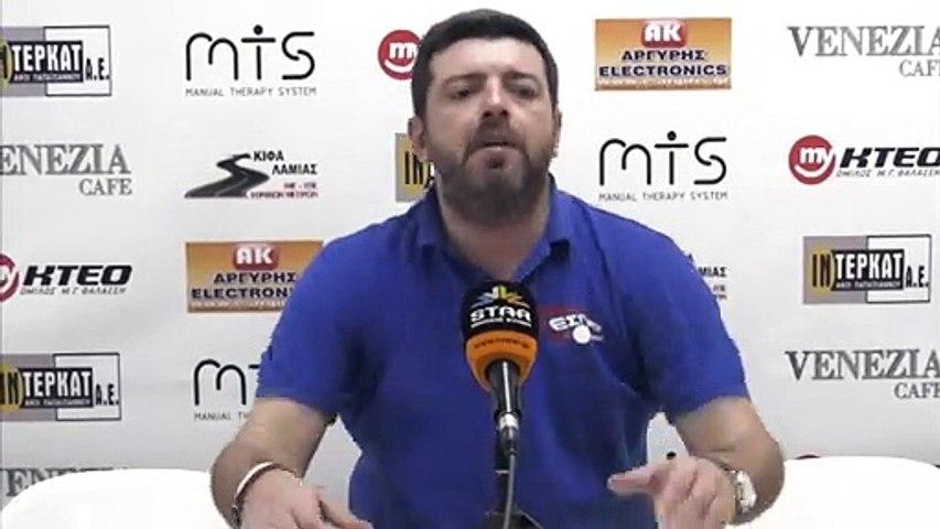 Γιάννης Σοφογιάννης για α΄ γύρο Β΄ Εθνικής 2019-2020