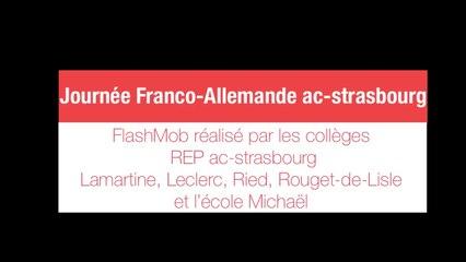 FLashMob réalisé par les élèves de l'académie pour fêter la journée Franco-Allemande