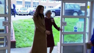 Duchess of Cambridge all smiles with children in Wales