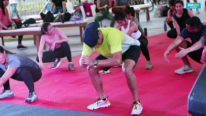 Matteo Guidicelli, Agatha Wong show how to do 'sustainable' exercises