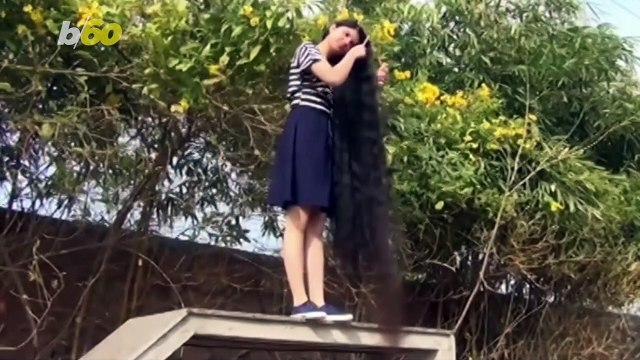 Girl Breaks Her Own World Record for Longest Hair, Which Takes an Hour to Comb