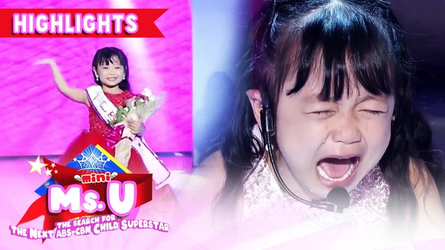 Trisha Andrada is crowned as the Mini Ms. U of the day | It's Showtime Mini Miss U