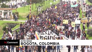 Hundreds protest tax reforms in Colombia