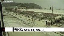 Gloria: Sturm schäumt katalanische Stadt ein