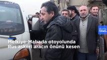 Suriye'de ABD ordusu, Rus askeri aracını durdurarak geri çevirdi