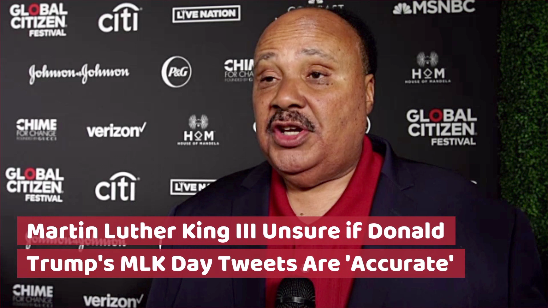 Martin Luther King III On Trump Tweets