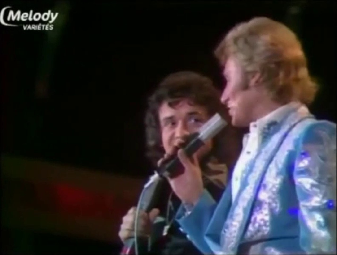 Johnny Hallyday et Michel Sardou - medley - 1974