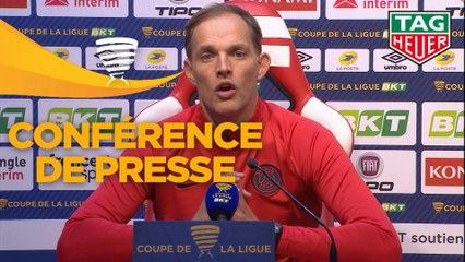 Conférence de presse Stade de Reims - Paris Saint-Germain (0-3) : David GUION (REIMS) - Thomas TUCHEL (PARIS) - 2019/2020