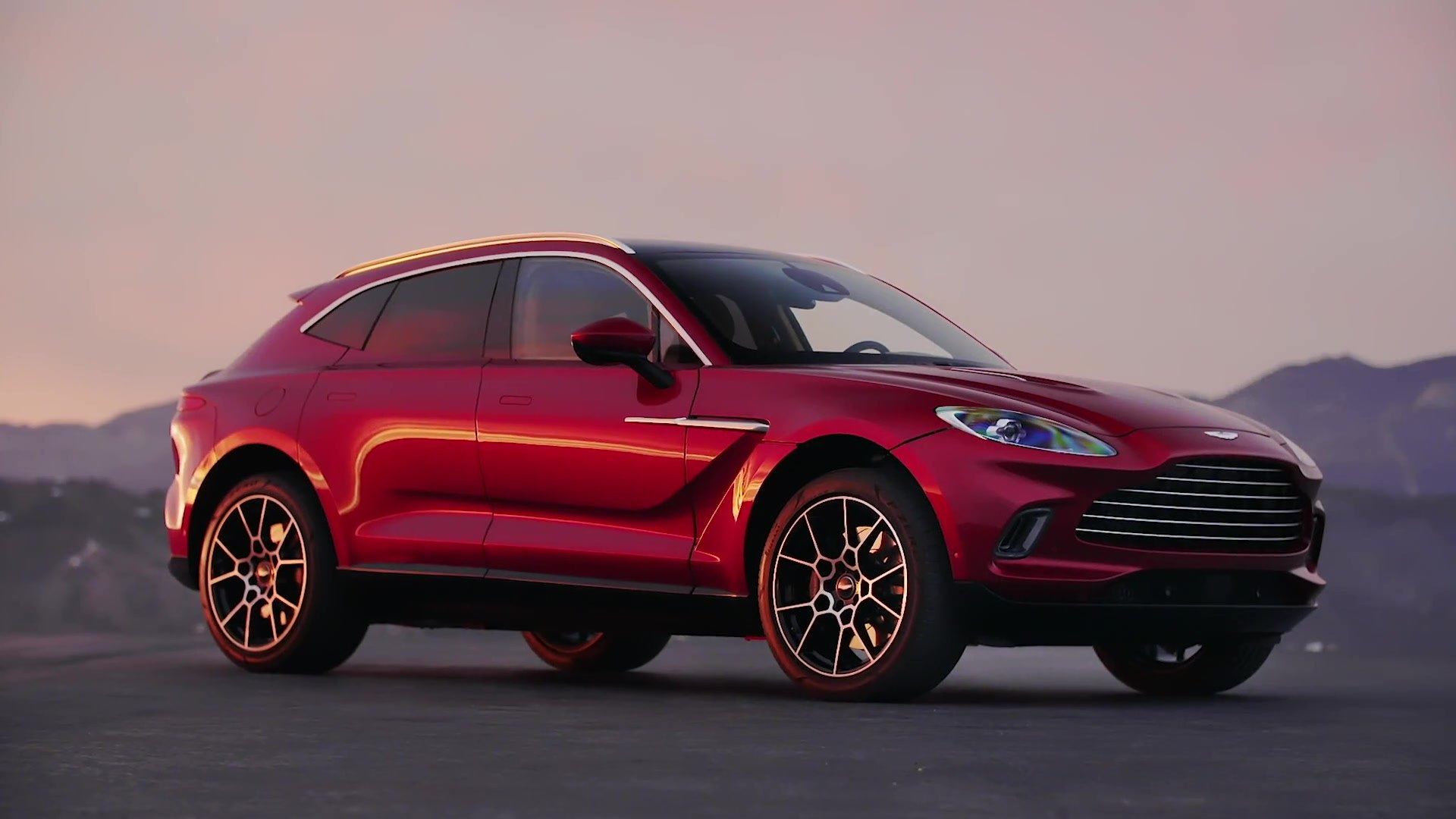 Aston Martin Dbx Preview In Hyper Red Video Dailymotion