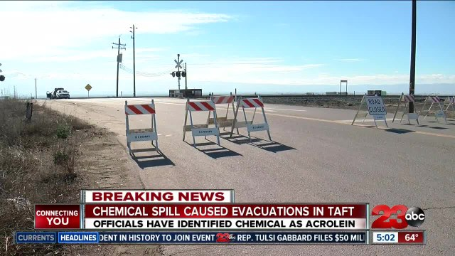 Chemical spill causes evacuations in Taft