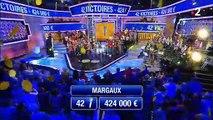 """En larmes hier soir, Margaux est devenue la plus grande gagnante de l'histoire de """"N'oubliez pas les paroles"""" présenté par Nagui sur France 2 en remportant 424.000 euros"""