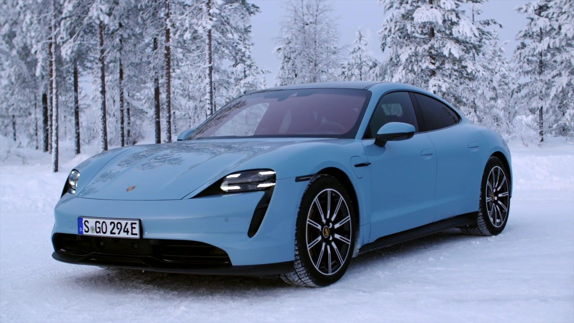 Porsche Taycan 4s Design In Frozen Blue Video Dailymotion