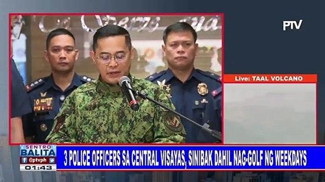 3 police officers sa Central Visayas, sinibak dahil nag-golf ng weekdays