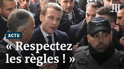 """""""Respectez les règles !"""" : la colère de Macron devant des agents de sécurité israéliens à Jérusalem"""