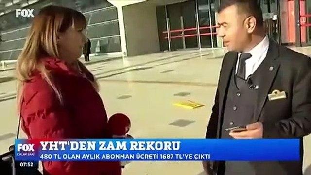 TCDD görevlisi, zam haberi yapmaya çalışan Fox Tv muhabirini tersledi!