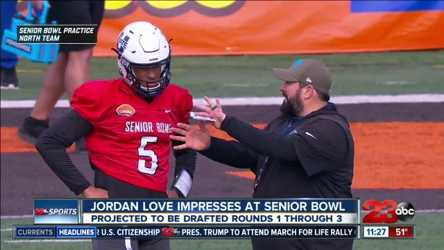 Jordan Love grabbing attention at Senior Bowl
