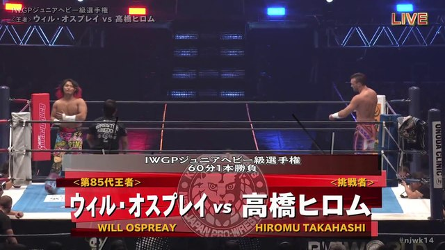 60fps / Will Ospreay (C/V4) VS Hiromu Takahashi '20.1.4 [IWGP Jr. Heavyweight Championship Match] [WORLD PRO-WRESTLING LIVE 2020 ~ WRESTLE KINGDOM 14 in TOKYO DOME]