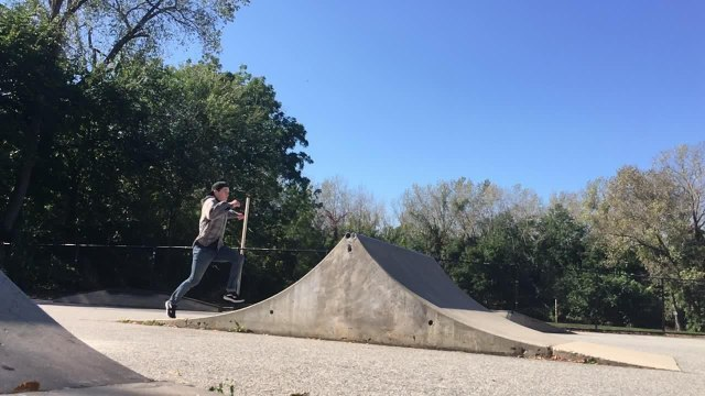 Guy Spins Mid-Air While Doing Backflip off Ramp