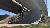 Guy Performs Cool Skateboarding Trick on Ramp