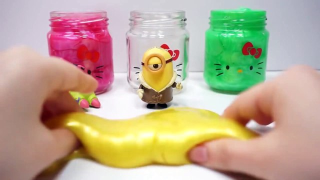 Learn Colors With Clay Slime Hello Kitty For Kids Children Nursery Rhymes