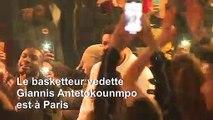 Le basketteur star Antetokounmpo à Paris, la NBA s'exporte