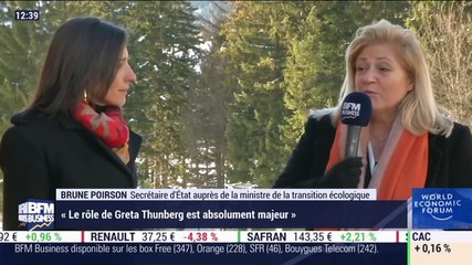 """Brune Poirson (Ministère de la Transition énergétique): """"Le rôle de Greta Thunberg est absolument important"""" - 23/01"""