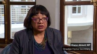 Diane Abbott 'very concerned' over knife crime