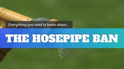 What is a hosepipe ban?