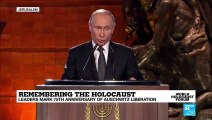 Remembering the Holocaust: Russian president Vladimir Putin delivers his remarks