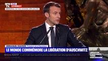 """Emmanuel Macron: """"L'Holocauste ne saurait être une histoire que nous pourrions manipuler ou utiliser ou revisiter"""""""