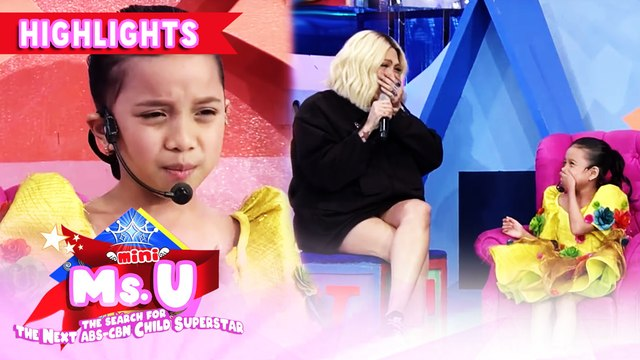 Vice Ganda gets amazed by Mini Miss U candidate's poem | It's Showtime Mini Miss U