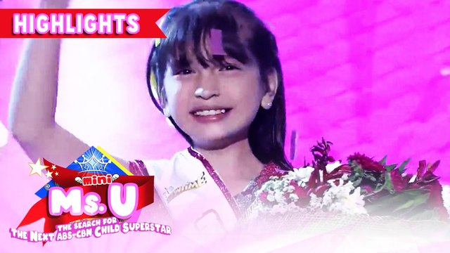 Chuchay Dacumos wins as the Mini Miss U of the Day | It's Showtime Mini Miss U
