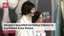 Halsey Makes Evan Peters' Day