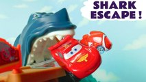 Hot Wheels Shark Escape with Disney Pixar Cars 3 Lightning McQueen vs Frozen 2 Queen Elsa and DC Comics Superheroes Batman in this Family Friendly Full Episode English