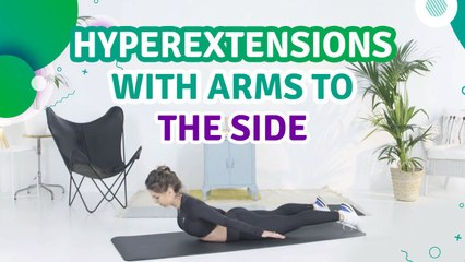 Hyperextensions with arms to the side - Fit People