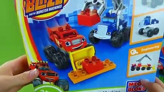 Blaze and the Monster Machines Mega Bloks Toys Axle City Garage Blaze and Crusher Zeg Truckball Toys
