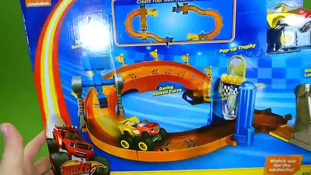 Blaze to Victory Speedway Blaze and the Monster Machines Race Track Toys Crusher Pickle Starla Toys