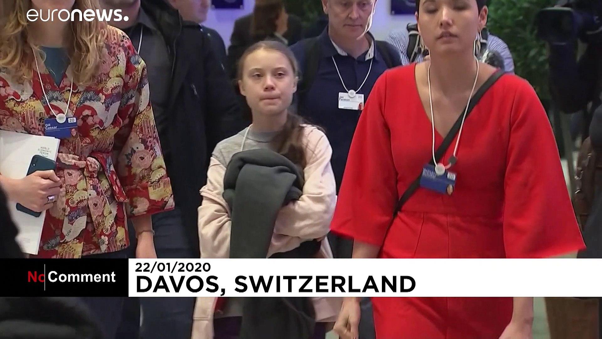 Greta e Carlo, una stretta di mano a Davos per il clima